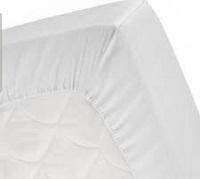 Fresh white bedsheets